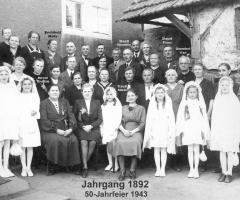 JG 1892 50-Jahrfeier mit Pfr Umenhof