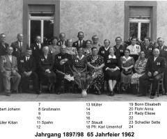 JG 1897/98 65-Jahrfeier 1962
