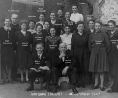 JG 1906/07 mit Pfarrer Umenhof 1947