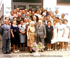 JG 1912/13 50-Jahrfeier 1963 mit Lehrer Lindenberger