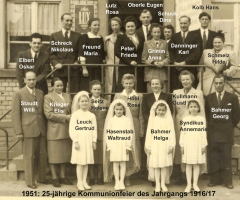 JG 1916/17 25-jährige Kommunion