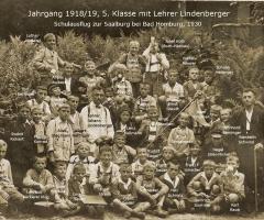 JG 1918/19 5. Klasse 1930 mit Lehrer Lindenberger