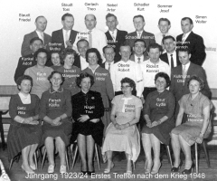 JG 1923/24 1. Treffen nach dem Krieg 1948