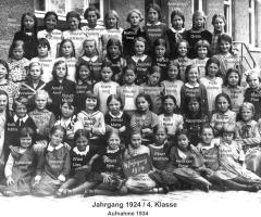 JG 1924/25 Mädchen 4. Klasse 1934
