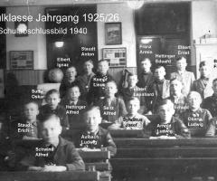 JG 1925/26 Schulabschluss 1940