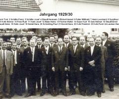 JG 1929/30 Buben 50-Jahrfeier