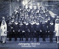 JG 1932/33 Kommunion Buben 1941