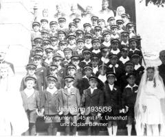 JG 1935/36 Kommunion Buben 1945