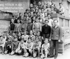JG 1935/36 mit Lehrer Schiesser 1948