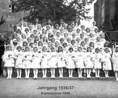 JG 1936/37 Kommunion Mädchen 1946