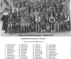JG 1938/39 2. Klasse Mädchen 1947