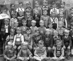 JG 1940/41 Buben Kindergarten 1947