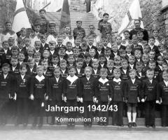 JG 1942/43 Kommunion Buben 1952