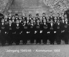 JG 1945/46 Kommunion Buben 1955
