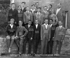 JG 1946/47 Abschlussklasse Buben 1961