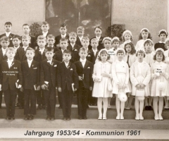 JG 1953/54 Kommunion 1961