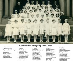 JG 1954/55 Kommunion Mädchen