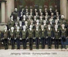 JG 1955/56 Kommunion Buben