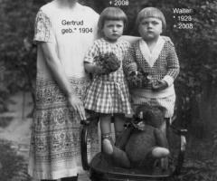 Amersbach Gertrud mit Kinder Lotte u. Walter 1925