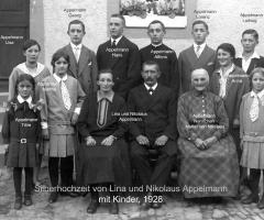 Appelmann Nikolaus und Lina mit Familie 1928