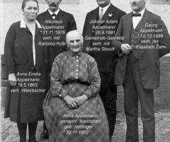 Appelmann Nannchen mit Tochter und 3 Söhnen 1928