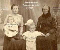 Arnold Brunner Familienbild 1924