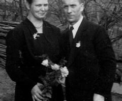 Bahmer Anton Aloisia Herold Silberhochzeit 1954