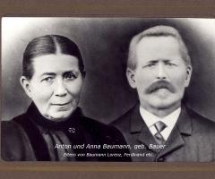 Baumann Anton und Anna geb Bauer