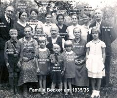 Becker Familie 1935