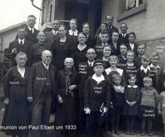 Elbert Paul Kommunion Familienbild 1933