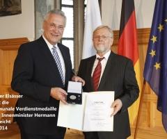 Elsässer Werner Kommunale Verdienstmedaille 2014