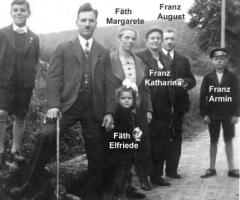 Fäth Franz Familie beim Sonntagsspaziergang