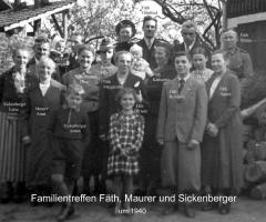 Fäth Maurer Sickenberger Familientreffen 1940
