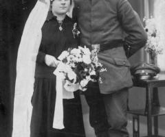 Hesele Alois und Anna geb Bechtold Hochzeit um 1914