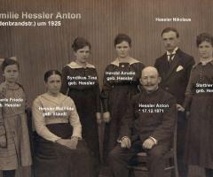 Hessler Anton mit Familie 1925 Hildebrandstr