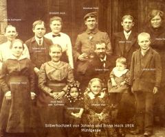 Hock Johann und Anna Silberhochzeit 1916 Mühlgasse