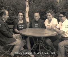 Kolb Anna 90. Geburtstag Rotwasserstr 5