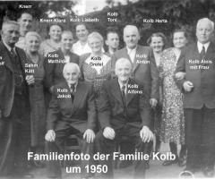 Kolb Familienfoto 1950