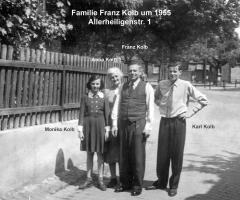 Kolb Franz mit Familie Allerheiligenstr 1 1955