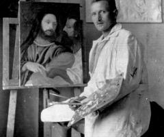 Krug Gottfried als Maler Unterhainstr 16