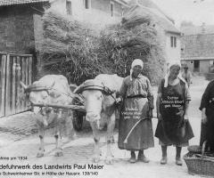 Maier Paul Getreidefuhrwerk 1934 Aschaffenburger Str