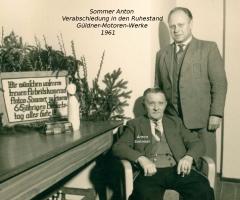 Sommer Anton Verabschiedung von Güldner 1961