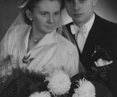 Sommer Walter und Margarethe Maier Hochzeit 1953