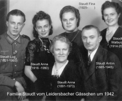 Staudt Anton Leidersbacher Gässchen Familienbild 1942