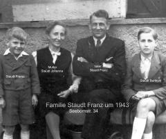 Staudt Franz mit Familie 1943
