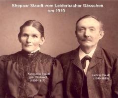 Staudt Ludwig Kunigunde Leidersbacher Gässchen 1910