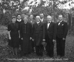 Staudt Magdalena und Sebastian Goldene Hochzeit 1946 Allerheiligenstr
