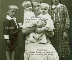 Straub Anna mit Kinder um 1935 Weinbergstr 16