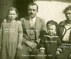 Straub Jakob mit Familie um 1931 Weinbergstr 16