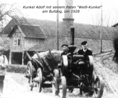 Kunkel Adolf mit Traktor 1928